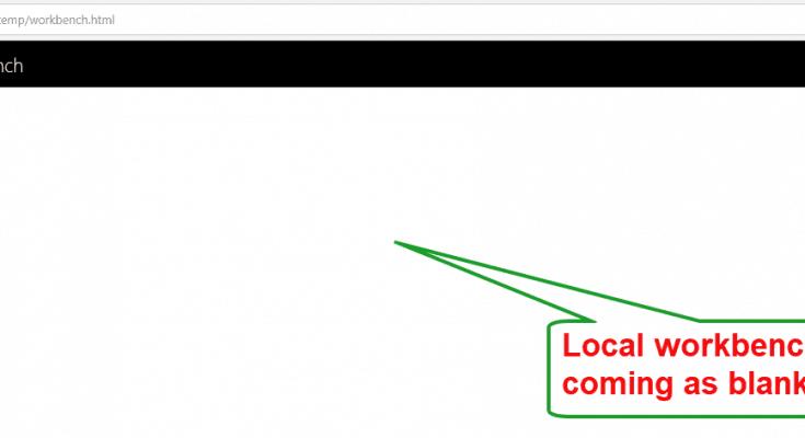 sharepoint framework local workbench
