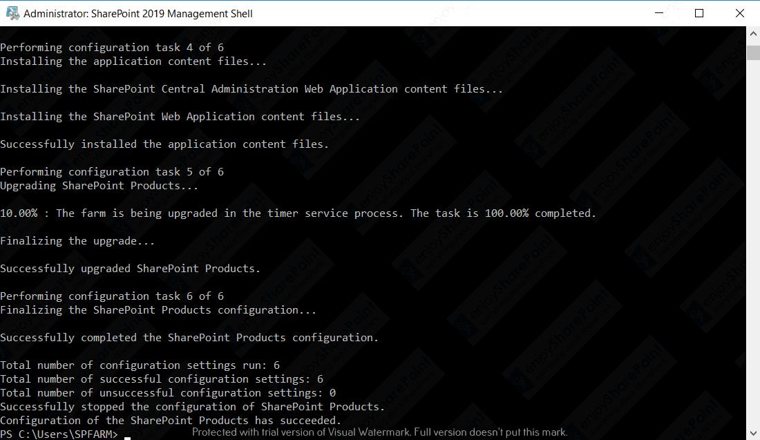 psConfig Upgrade Completed