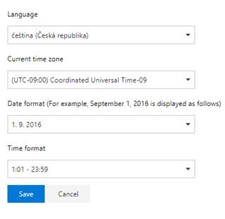 change office 365 language to english