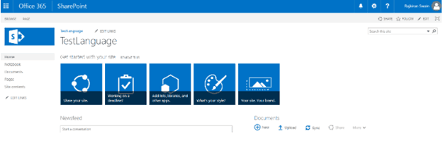 change language settings sharepoint online
