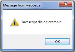 javascript examples: dialog box