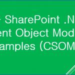 sharepoint csom examples