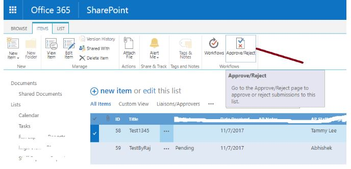SharePoint hide approve/reject button