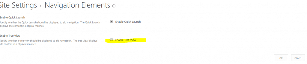 Enable Tree View In SharePoint 2013/Online