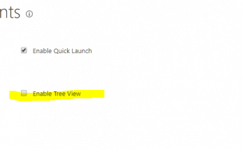 sharepoint enable tree view