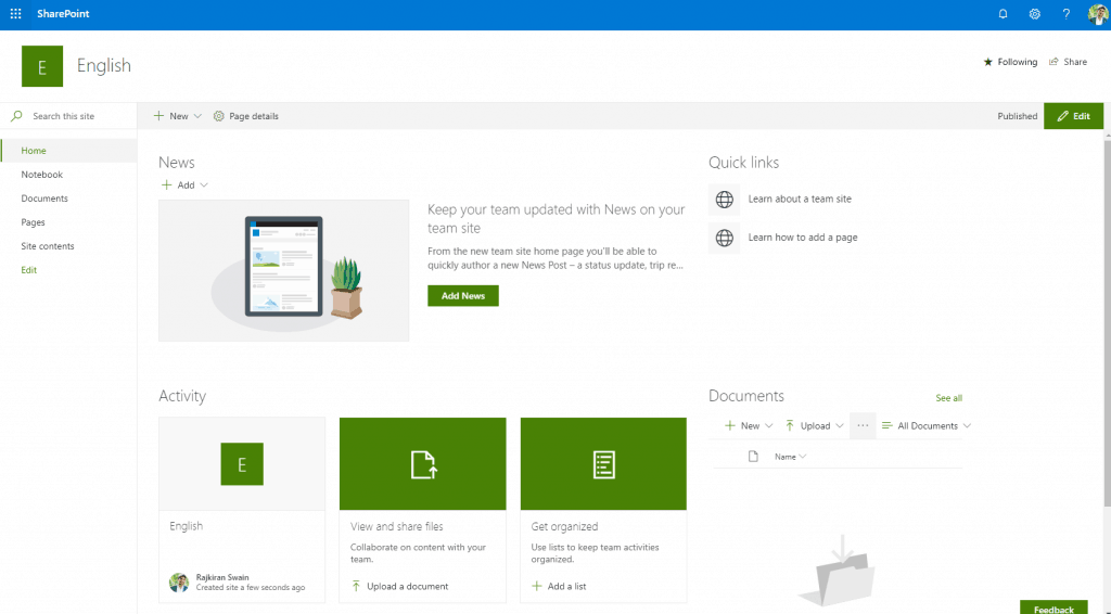How to create site in SharePoint 2013