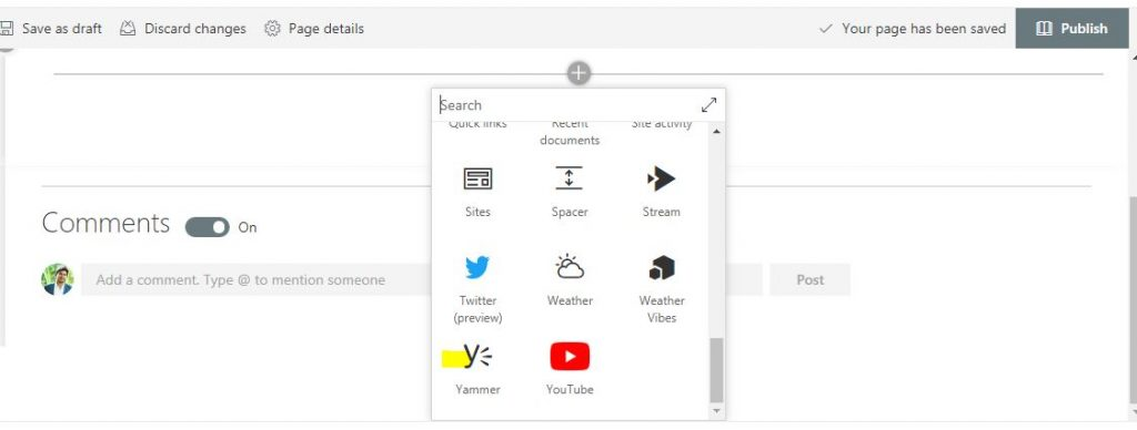 embed yammer in sharepoint