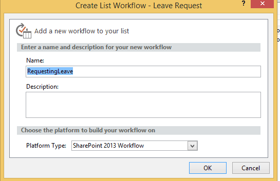 leave request sharepoint designer workflow