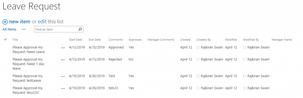 sharepoint designer leave request workflow