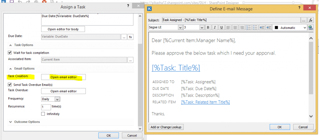 how to create leave request workflow in SharePoint designer 2013