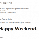 sharepoint designer leave request workflow