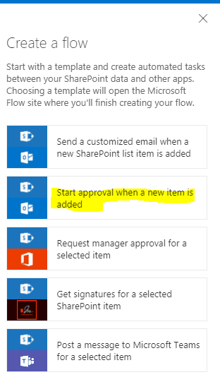 microsoft flow vacation request