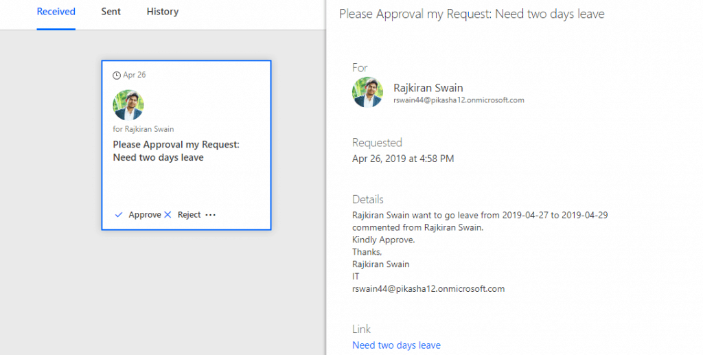 Create a Leave request approval workflow using Microsoft Flow in SharePoint Online