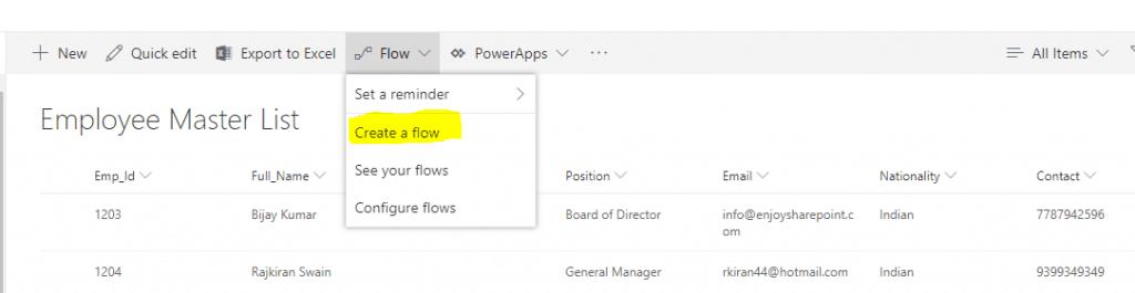 Microsoft flow send tweets