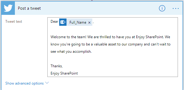 Send email post of yammer twitter and facebook for new SharePoint item
