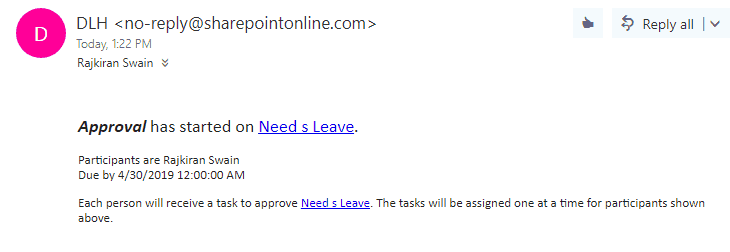 sharepoint leave request