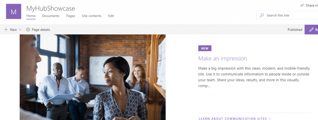 sharepoint communication sites examples