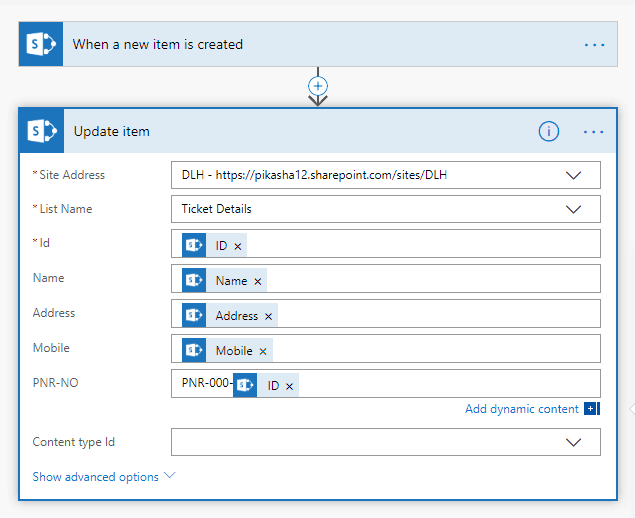 Create auto increment column in SharePoint list using Microsoft Flow