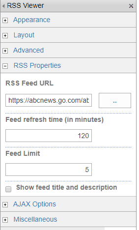 RSS Viewer Web Part in SharePoint