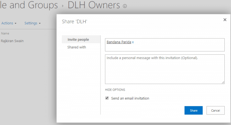 permission settings in sharepoint