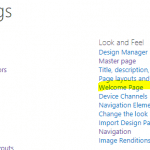 change welcome page sharepoint online