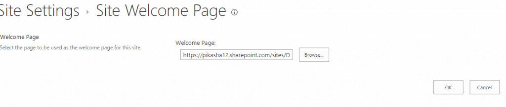 change welcome page sharepoint 2013