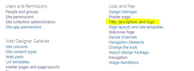 change sharepoint site collection description