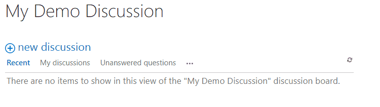 create discussion board in sharepoint online