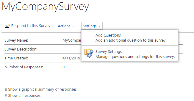 how to create a survey in sharepoint 2013
