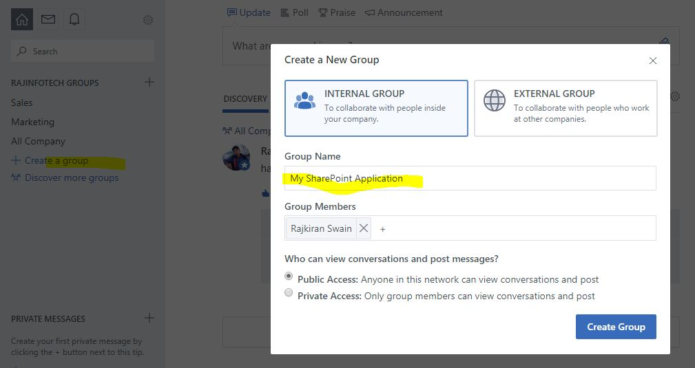 embed yammer group feed in sharepoint