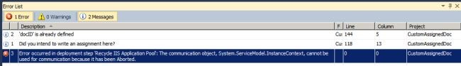 Error Occurred in Deployment Step Recycle IIS Application Pool