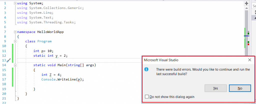 static variable in c#