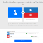 Send text to all emergency contacts from a SharePoint list using Microsoft Flow