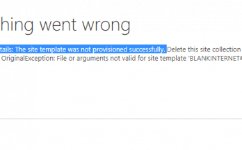 sharepoint provisioning did not succeed