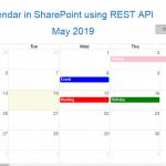 create custom calendar using jquery sharepoint