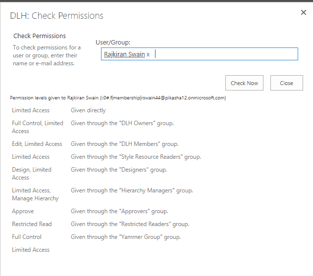 check user permission in sharepoint 2013