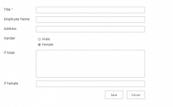 sharepoint show/hide list column based on radio button selection