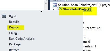 Create Custom List definition using Visual Studio 2010 for SharePoint 2010