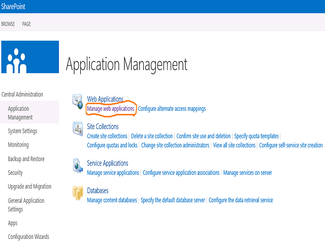 Create Web Application in SharePoint 2013