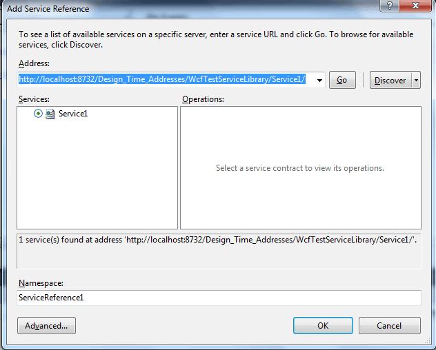 create wcf service in asp.net application