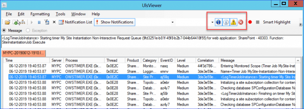 filter log in uls viewer sharepoint 2010