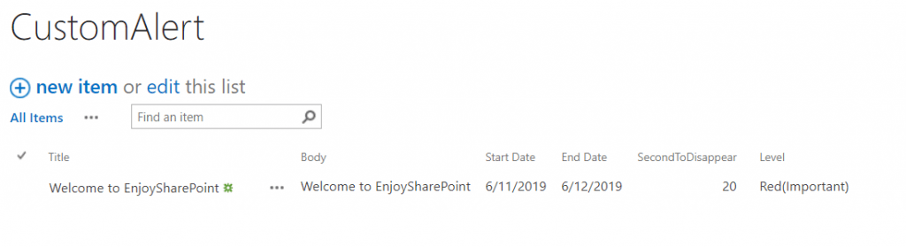 display custom alert message in SharePoint using REST API