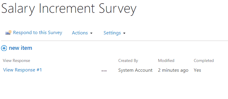 sharepoint 2013 export survey results