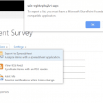sharepoint 2013 export survey results to excel
