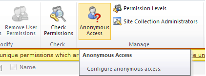sharepoint enable anonymous access