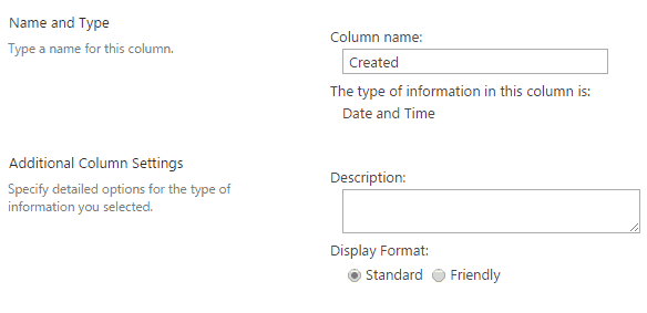 Change SharePoint 2016 List Date Format from friendly format to Standard format