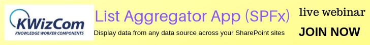 List Aggregator App (SPFx)