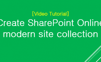 create sharepoint online modern site collection