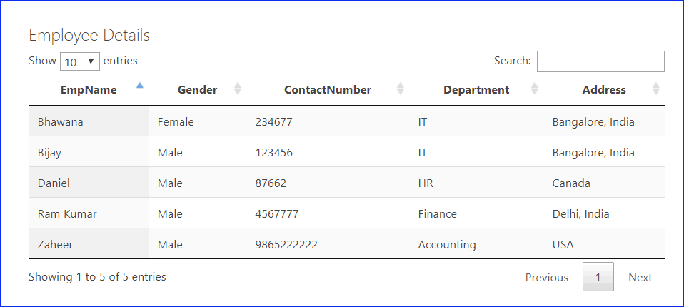 Display SharePoint List items in a data table using Rest API