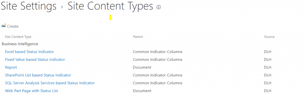 sharepoint site content types url